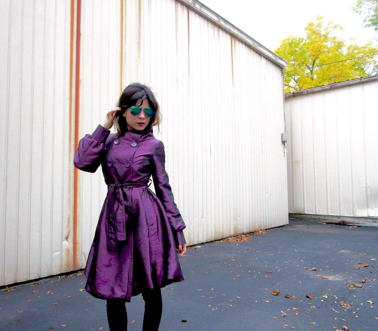 Purple trenchcoat