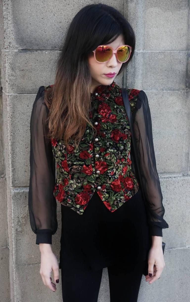 Sheer Sleeve Vintage Blazer